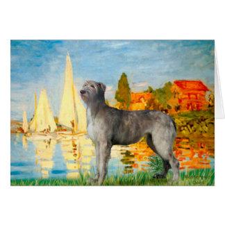 Irish Wolfhound 2 - Sailboats 2 Greeting Card