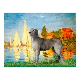 Irish Wolfhound 2 - Sailboats 2 Post Card