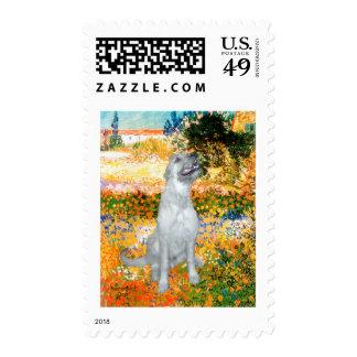Irish Wolfhound 4 - Garden (VG) Stamps