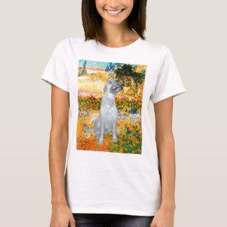 Irish Wolfhound 4 - Garden (VG) T-Shirt