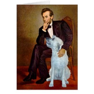 Irish Wolfhound 4 - Lincoln Greeting Card