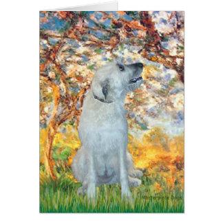 Irish Wolfhound 4 - Spring Greeting Card