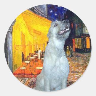 Irish Wolfhound 4 - Terrace Cafe Classic Round Sticker