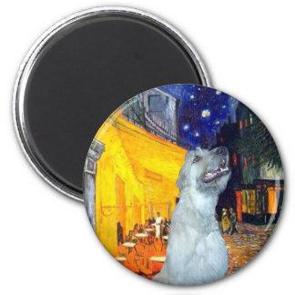 Irish Wolfhound 4 - Terrace Cafe 2 Inch Round Magnet