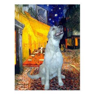 Irish Wolfhound 4 - Terrace Cafe Postcard