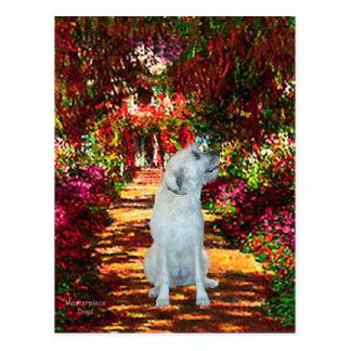 Irish Wolfhound 4 - The Path Postcard