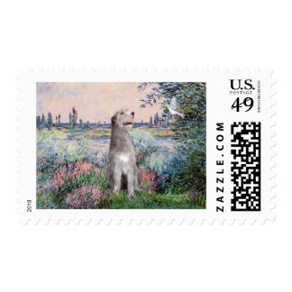 Irish Wolfhound 6 - By the Seine Stamps