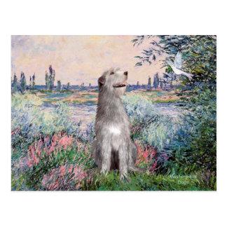 Irish Wolfhound 6 - By the Seine Postcard
