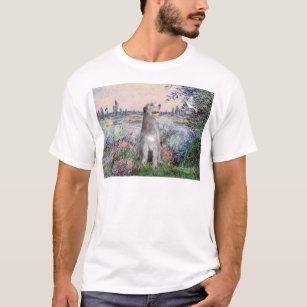 Irish Wolfhound With Celtic Shamrock Standard Unisex T-shirt