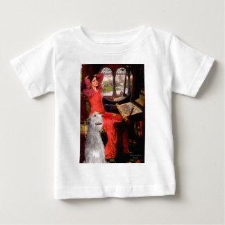 Irish Wolfhound 6 - Lady of Shalotte Baby T-Shirt