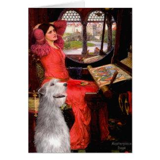 Irish Wolfhound 6 - Lady of Shalotte Greeting Card