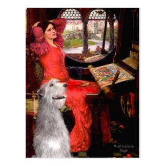 Irish Wolfhound 6 - Lady of Shalotte Postcard