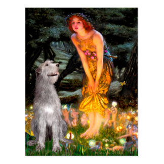 Irish Wolfhound 6 - MidEve Postcard