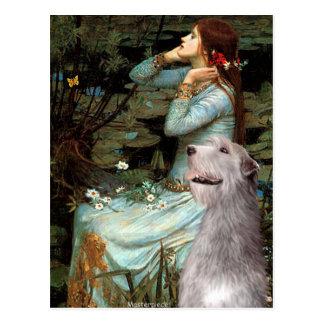 Irish Wolfhound 6 - Ophelia Seated Postcard