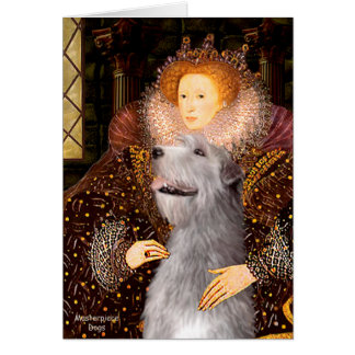 Irish Wolfhound 6 - Queen Greeting Card