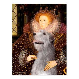 Irish Wolfhound 6 - Queen Postcard