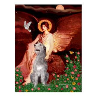 Irish Wolfhound 6 - Seated Angel Postcard