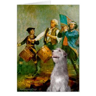 Irish Wolfhound 6 - Spirit of 76 Greeting Card