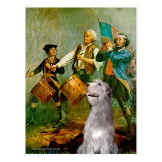 Irish Wolfhound 6 - Spirit of 76 Postcard