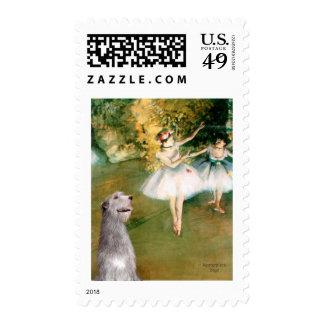 Irish Wolfhound 6 - Two Dancers Postage Stamp