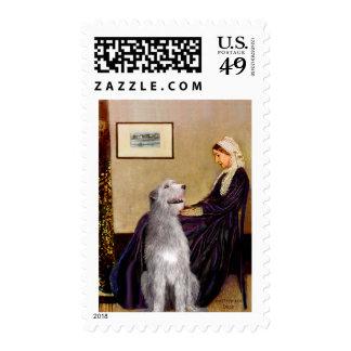 Irish Wolfhound 6 - Whistler's Mother Postage Stamp