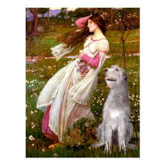 Irish Wolfhound 6 - Windflowers Postcard
