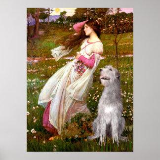 Irish Wolfhound 6 - Windflowers Posters