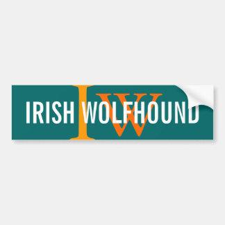 Irish Wolfhound Breed Monogram Car Bumper Sticker