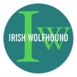 Irish Wolfhound Breed Monogram Classic Round Sticker