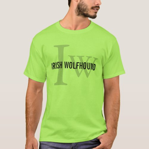 Irish Wolfhound Breed Monogram T_Shirt