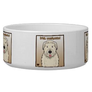 Irish Wolfhound Cartoon Bowl