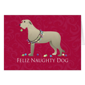 Irish Wolfhound Christmas Design Greeting Card