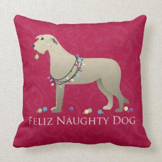 Irish Wolfhound Christmas Design Throw Pillow
