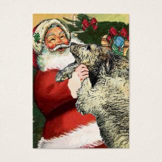 Irish Wolfhound Christmas Gifts Business Card