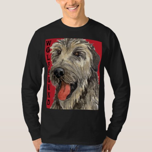 Irish Wolfhound Color Block T_Shirt