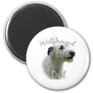 Irish Wolfhound Dad 2 2 Inch Round Magnet
