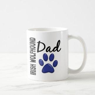 Irish Wolfhound Dad 2 Classic White Coffee Mug