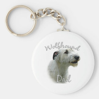 Irish Wolfhound Dad 2 Keychain