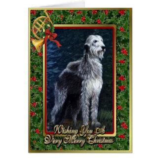 Irish Wolfhound Dog Blank Christmas Card