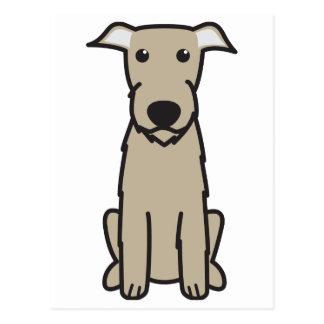 Irish Wolfhound Dog Cartoon Post Cards