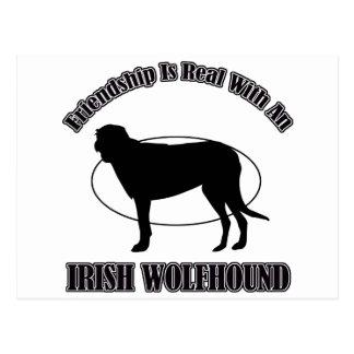IRISH WOLFHOUND DOG DESIGNS POSTCARDS
