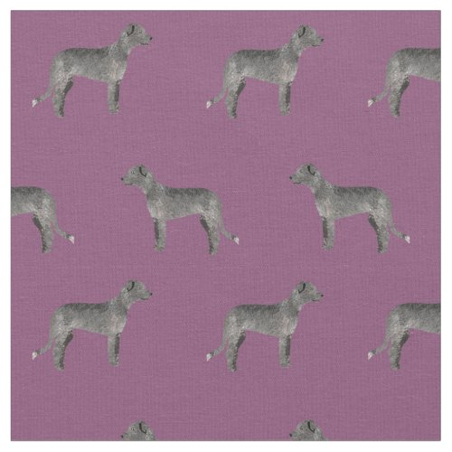 irish wolfhound fabric purple