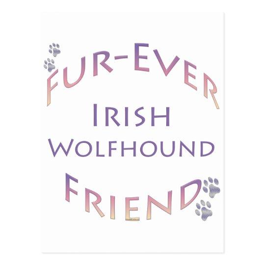 Irish Wolfhound Furever Postcard