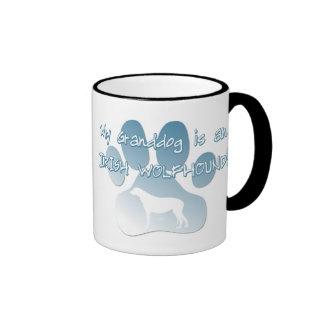 Irish Wolfhound Granddog Ringer Coffee Mug