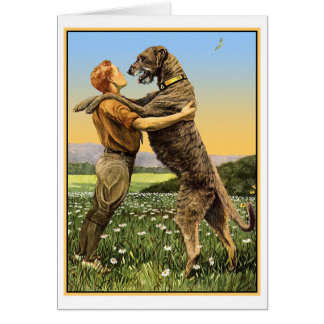 """Irish Wolfhound Greeting"" Card"