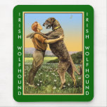Irish Wolfhound Greeting Mouse Pads