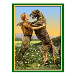 Irish Wolfhound Greeting Postcards