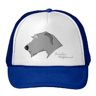 Irish Wolfhound head silhouette Trucker Hat