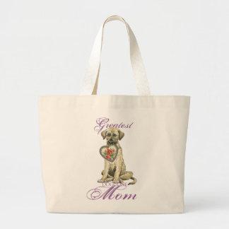 Irish Wolfhound Heart Mom Large Tote Bag