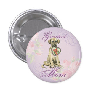 Irish Wolfhound Heart Mom Pinback Button